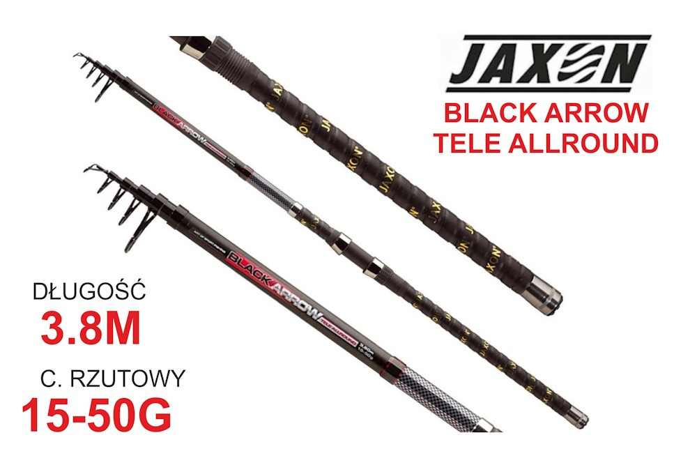 Jaxon WĘDKA BLACK ARROW TELE ALLROUND 3,80m 15-50g JAX-WJ-BAL38050